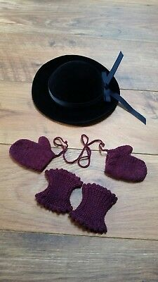 American Girl doll Addy Derby Mittens Knee Warmers