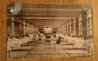 "WW1, October 1916 LEICESTER ROYAL INFIRMARY ""SAMUEL ODAMES"" WARD. RP POSTCARD"