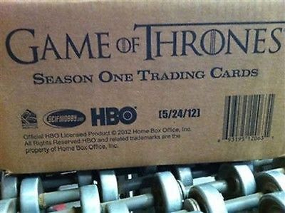 Game of Thrones Season One 1 Factory Sealed CASE 12 Boxes Cards Rittenhouse