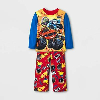 Toddler Boys' Blaze and the Monster Machines 2pc Long Sleeve Pajama Set - Blu...