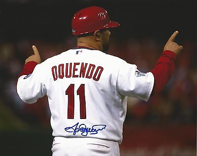 St. Louis Cardinals Jose Oquendo MLB Signed Autographed 8x10 Photo