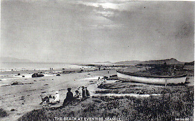 West Kilbride Postcard. Seamill, View of Beach & People, 1928