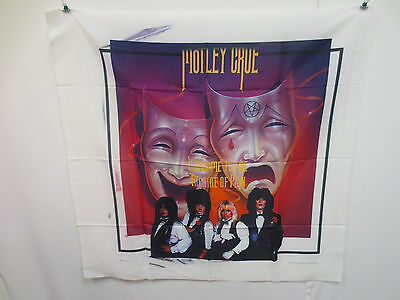 Motley Crue Wall Hanging Polyester Printed Fabric Rock & Roll Vintage Retro Vtg