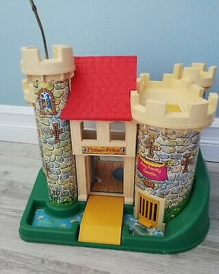 Fisher Price Little People Play Family Castle 0993 1974 Vintage incomplete