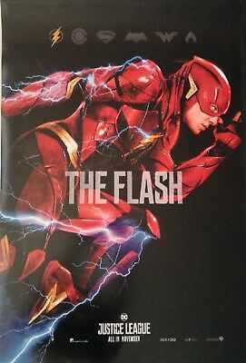 FLASH JUSTICE LEAGUE DC Comic Movie Poster Single Sided 27x39 in.