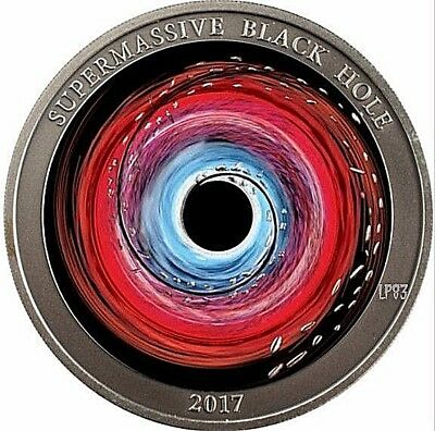 2017 1 Oz Silver $2 SUPERMASSIVE BLACK HOLE Coin, Niue.