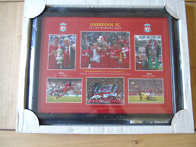 """liverpool fc FA CUP FINAL picture/frame """"THE GERRARD FINAL"""""""