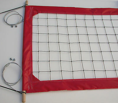 Home Court Volleyball Net, Aircraft Cable Top and Bottom - PRO4R