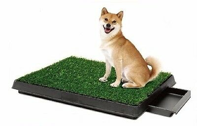 Indoor Puppy Dog Pet Potty Training Pee Pad Mat and Grass Toilet W/tray!!