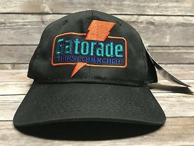 Vintage Gatorade Thirst Quencher Black Trucker Hat Rare Snapback with Tag