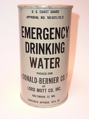 Vintage Emergency Drinking Water Can