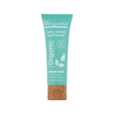Little Innoscents Milky Whites Organic Mint & Strawberry Kids Toothpaste 50 ml