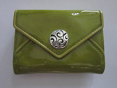 BRIGHTON NWT $75 Leather Twister I-Phone Credit Card Case PALM GREEN
