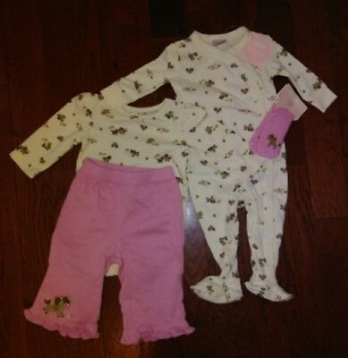 ❤NWT RARE Gymboree Baby Girl Horse lot 3-6M Bodysuit, Pants,  PJs & Socks~L@@K!❤