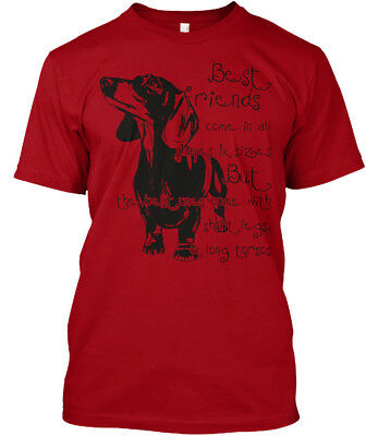 Best Friends Dachshund 4 - Come In All Shapes & Sizes Hanes Tagless Tee T-Shirt