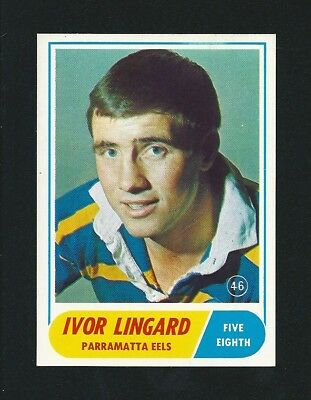 Investment Quality 1969 Scanlens Rugby Ivor Lingard Parramatta #46 Stunning