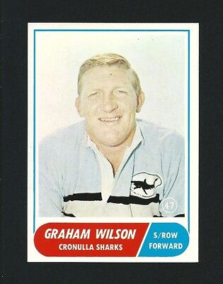 Investment Quality 1969 Scanlens Rugby Graham Wilson Cronulla #47 Stunning