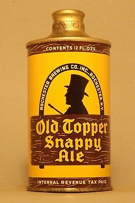 Pristine! Old Topper IRTP J Spout Cone Top Beer Can - Rochester, NY- No Reserve!