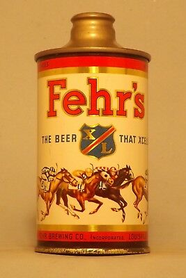 WOW! Fehr's IRTP Derby J Spout Cone Top Beer Can - Louisville, KY- No Reserve!