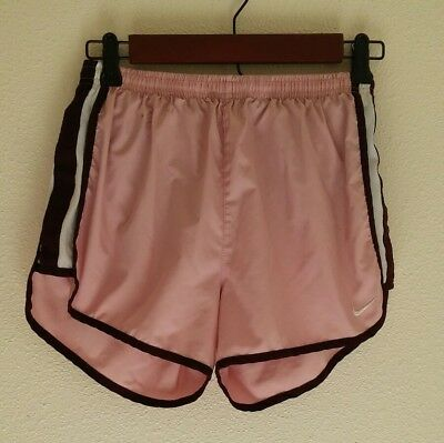 womens nike fit dry shorts size small 4-6 pink workout running athletic