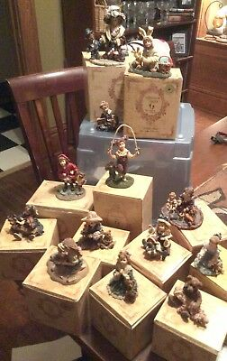 Lot of 13 Yesterdays Child Figurines Boyd Bear Collectibles Store Liquidation