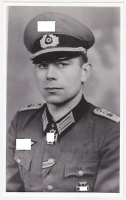 Signed Photo + Letters+ of Artillery Knight's Cross Holder Major Georg Peterson
