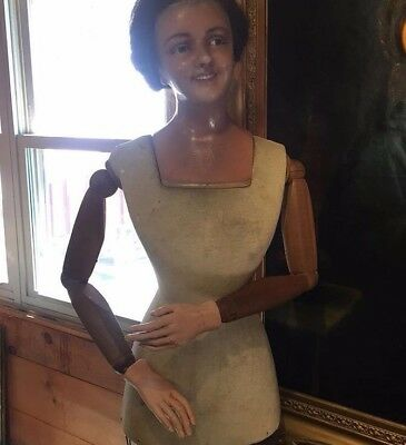 RARE! Early 1900's Life Size Wax Mannequin!