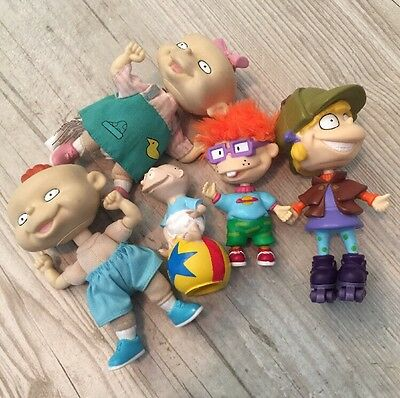 Rugrats Chuckie Angelica & Tommy Lip Gloss Topper & Phil & Lil Dolls (C1)