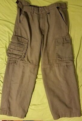 Boy Scout of America Youth size 14 Green Uniform Cargo Convertible Pants