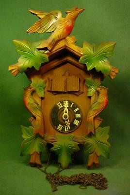 Colorful Vintage Coo Coo  Clock 4 Restoration Germany