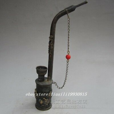 Antique collection of bronze carved water pipe