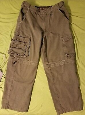 Boy Scouts of America Uniform Green Pants Youth Size 12 Convertible Cargo