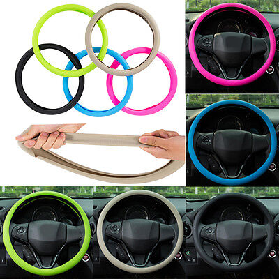 Food Grade Silicone Auto Steering-Wheel Cover for 36-40CM Steering Wheel