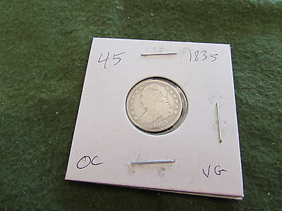 1835 Capped Bust Dime Philadelphia Mint LIBERTY 10 Cent Silver Coin