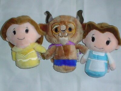 Hallmark Itty Bittys  Disney Beast & 2 Beauty Belle NO TAGS