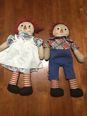 Vintage Georgene Raggedy Ann & Andy doll Outlined Nose