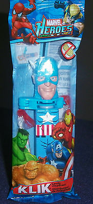 Klik Captain America Candy Dispenser NIP 2010