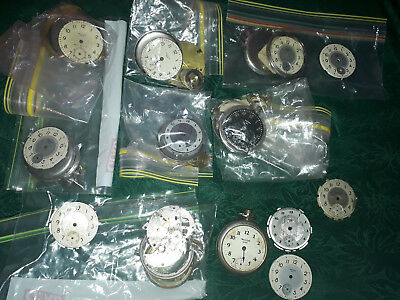 Westclox faces and parts for fob watches. Antique/Vintage