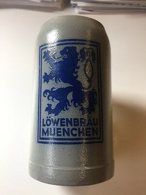 1L Lowenbrau Muenchen Beer Stein Tankard Made In Germany Great Condition