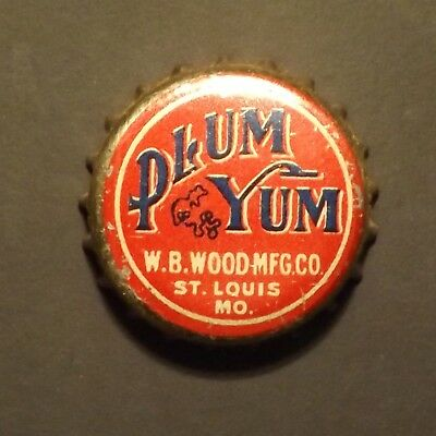 Old Cork Backed Beer Bottle Crown - Plum Yum, St. Louis, MO - No Reserve!