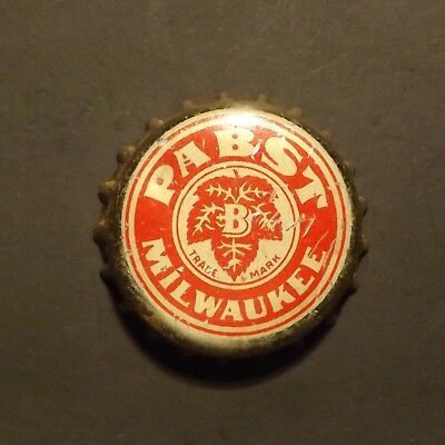 Old Cork Backed Beer Bottle Crown - Pabst #2, Milwaukee, WI - No Reserve!