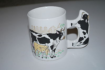 Collectible Cow Mug Cow with calf with cow handle  - NICE!!!