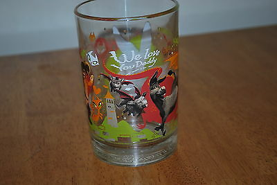 2007 Shrek the third - We Love You Daddy - 5 1/8 inch Heavy Drink Glass -NICE!!