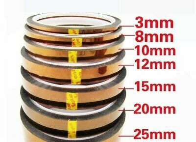 3pcs 10mm 100ft Gold Tape BGA High Temperatur Heated Resistant Polyimide Kapton