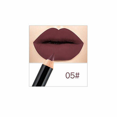 1PC Nude Matte Bare Crayon Lip Liner Waterproof lasting Lipstick Pencil Make up