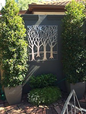 Metal Wall Art Silver Great For Garden Looks Great On Wall