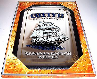 Cutty Sark 12 Year Old Whisky Nostalgia Bar Mirror 8 11/16X12 5/8in