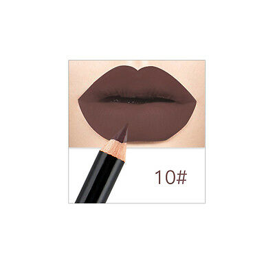 1X Nude Matte Lip Liner Pencil Waterproof Long lasting Lipstick Crayon Cosmetic