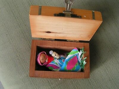 HAUNTED EVIL CREEPY CURZED WITCHCRAFT TINY VOODOO DOLL/PIN/CHARGING BOX~revenge