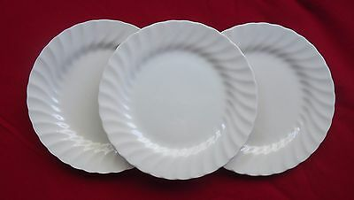 Vintage Johnson Brothers England Side Plates x 3 *Regency White